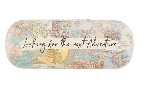 Brillenkoker Vintage Map