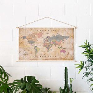 Katoenen wereldkaart