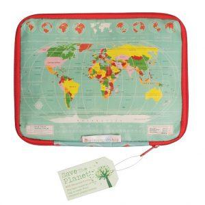 Tablethoes wereldkaart
