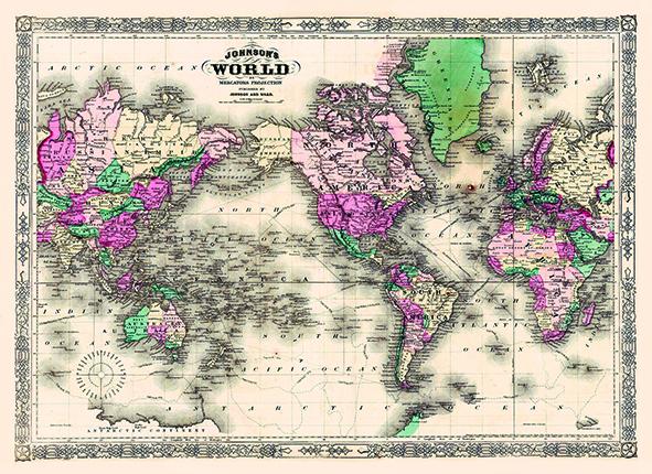 Tapijt Wereldkaart