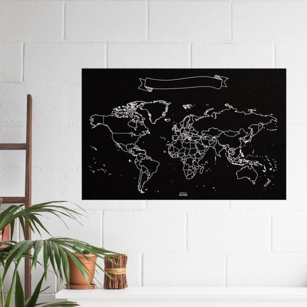 wereldkaart krijt