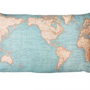 Kussensloop wereldkaart