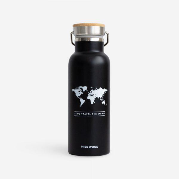 woody drinkfles zwart